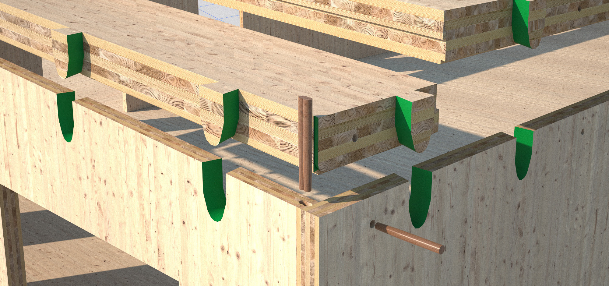 Woodbe uses old technology to build with cross-laminated timber